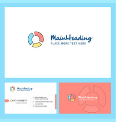 graph logo design with tagline front and back vector image
