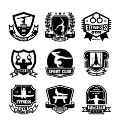 Gymnastics Badges vector image