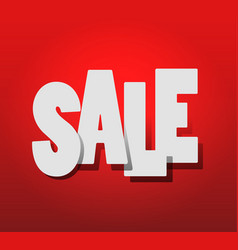hot sale white text sale on red background vector image