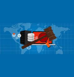 Information technology internet digital justice vector
