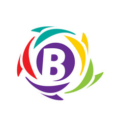 initial b icon vector image