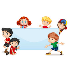 international kids blank banner vector image