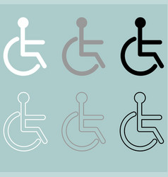 Invalid icon handiccapped person disabled or vector