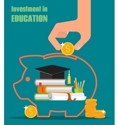 Invest in education concept Stack of books vector image