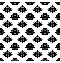 Lotus flower pattern seamless vector image