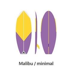 Malibu Minimal Surfboard Desk vector image