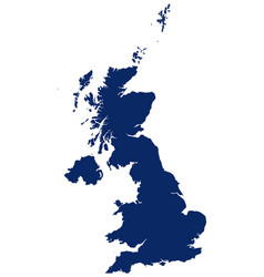 Map great britain in blue colour vector
