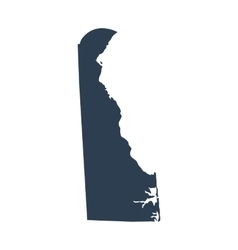 map of the US state Delaware vector image