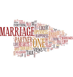 Marriage of hearts text background word cloud vector