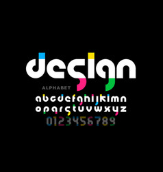 Modern style lowercase font alphabet letters and vector