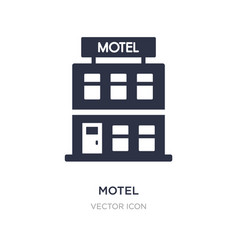 Motel icon on white background simple element vector