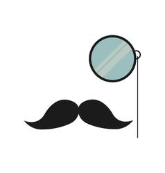 Mustache and glass gentleman icon vector