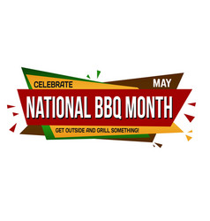 National bbq month banner design vector