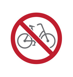 No bicycle allowed sign on white background for vector