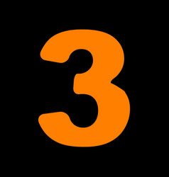 number 3 sign design template element orange icon vector image