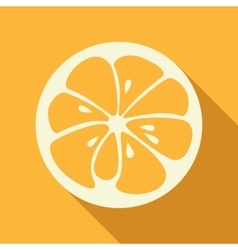 Orange stylish icon Juicy fruit logo vector image