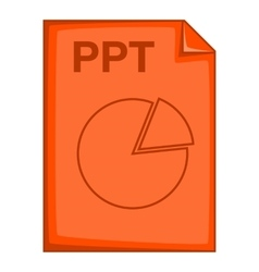 PPT file icon cartoon style vector
