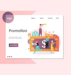 promotion website landing page design vector image