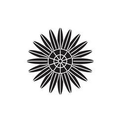 Protea black concept icon protea flat vector