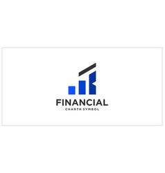 R b k chart financial logo design vector