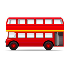 realistic 3d detailed london city bus vector image