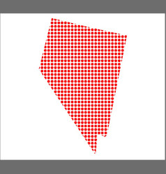 red dot map of nevada vector image