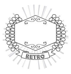 Retro label vector