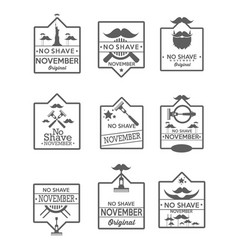 set of no shave november labels vector image