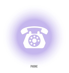 Sign of old phone retro phone vector