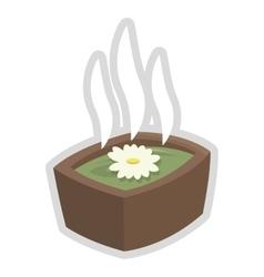 Spa hot tub icon vector