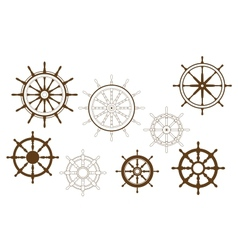Steering wheels set vector