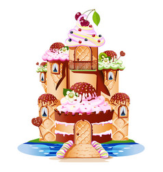 sweet castle vector image