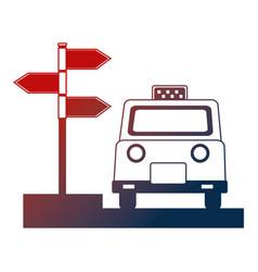 Taxi service public arrow direction location vector