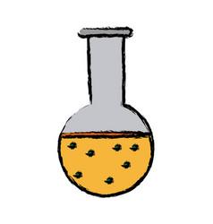 Test tube flask laboratory school equipment vector