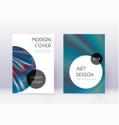 Trendy cover design template set red abstract lin vector