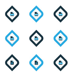 types icons colored set with file jsp file video vector image
