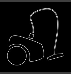 vacuum cleaner the white path icon vector image