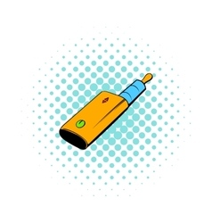 Vaporizer device icon comics style vector image