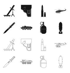 Weapon and gun sign set vector