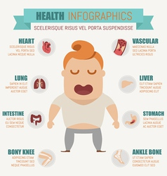 Health infographics vector image