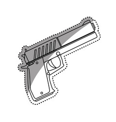 isolated handgun weapon vector image vector image