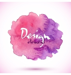 Purple watercolor painted isolated stain vector image