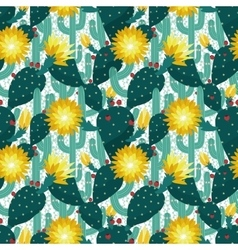 seamless pattern from cactuses vector image