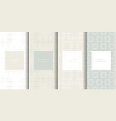 set of seamless patterns in light grey color vector image