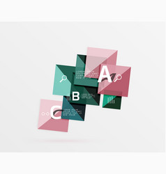 square geometric abstract background vector image vector image