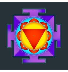 colored Tara yantra vector image vector image