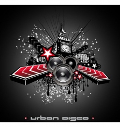disco music flyer background vector image vector image