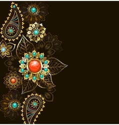 Ethnic Gold Pattern vector image