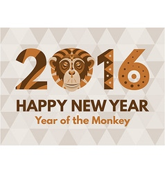 New Year 2016 greeting card vector image vector image