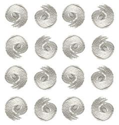 pattern of metallic swirls vector image vector image